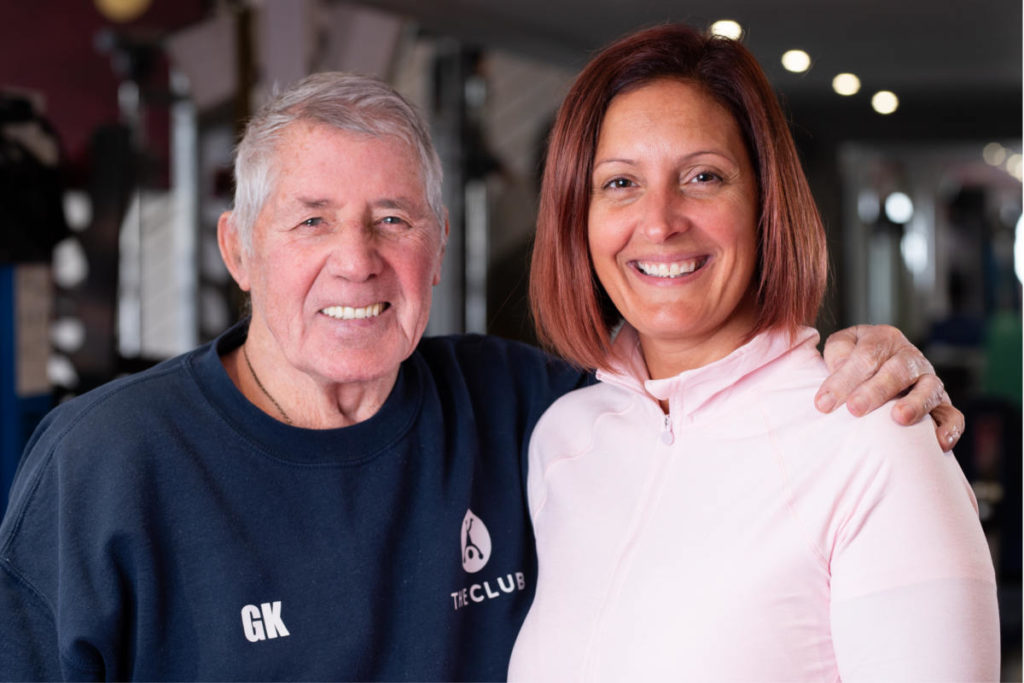 Founder of the Club Gym George Kerr with the current owner and manager Davina Downie